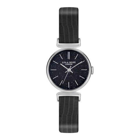 Lola Rose Sandstone Stone Dial Navy Blue Strap Watch