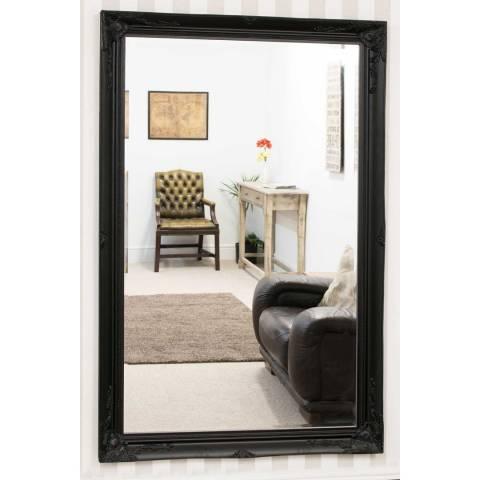 Milton Manor Buxton Black Leaner Mirror 170 x 109cm