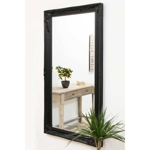 Milton Manor Black Buxton Leaner/Wall Mirror 170x79cm