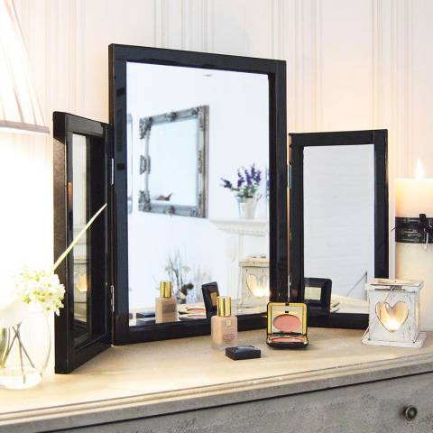 Milton Manor Black Moreton Dressing Table Mirror