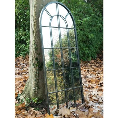 Milton Manor Black Somerley Collection Garden Wall Mirror 140x65cm