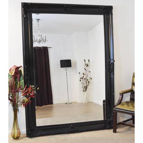 Milton Manor Black Walton Leaner Mirror 213x152cm