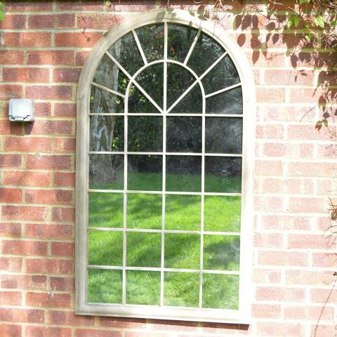 Milton Manor Somerley Country Arch Large Garden Mirror 129x76cm