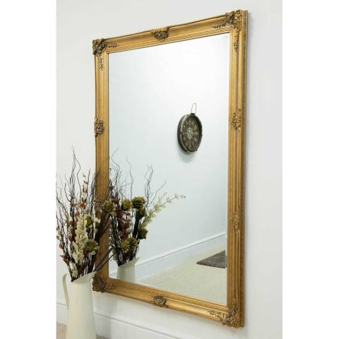 Milton Manor Gold Alice Leaner/Wall Mirror 170x109cm