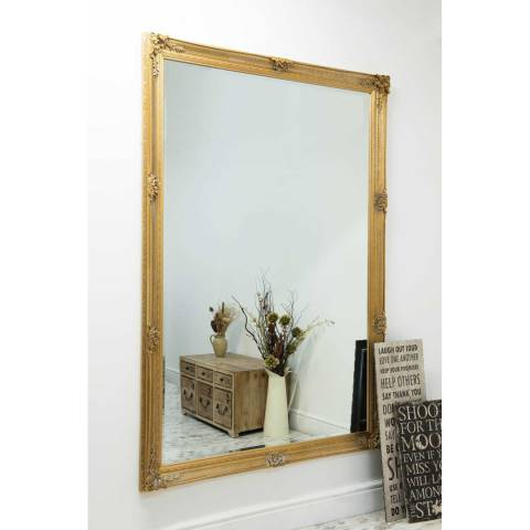 Milton Manor Abbey Gold Extra Large Leaner Mirror 201 x 140 CM