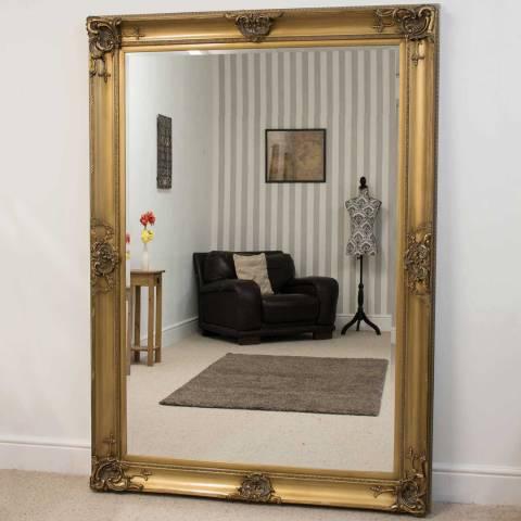 Milton Manor Gold Walton Leaner Mirror 213x152cm