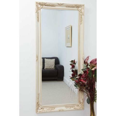 Milton Manor Ivory Buxton Leaner/Wall Mirror 170x79cm