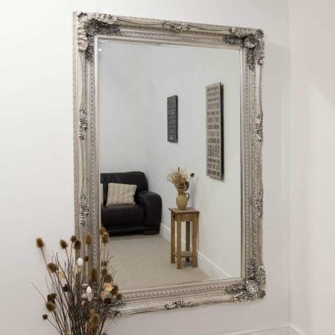 Milton Manor Silver Palais-Royal Leaner/Wall Mirror 185x123cm
