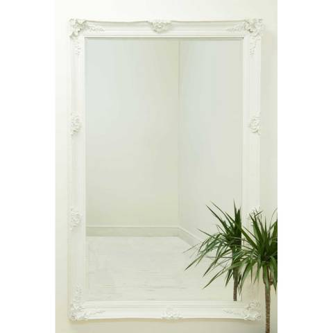 Milton Manor Abbey White Large Leaner Mirror 170 x 109cm