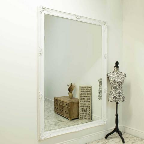 Milton Manor White Alice Leaner Mirror 201x140cm