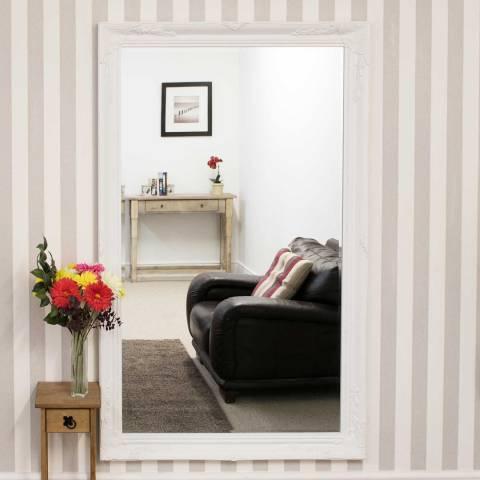 Milton Manor White Buxton Leaner/Wall Mirror 170x109cm