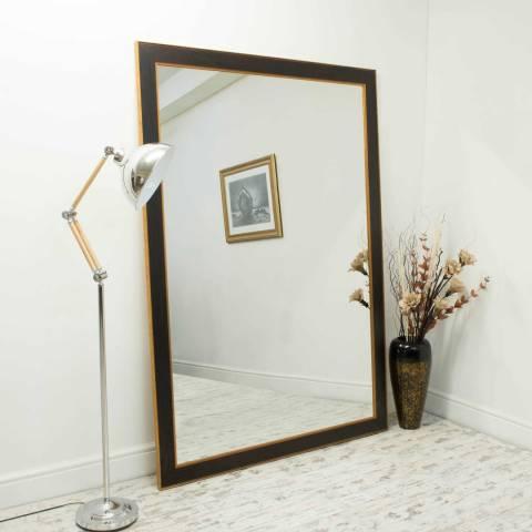 Milton Manor Brown/Gold Laurel Wall Mirror 203x142cm