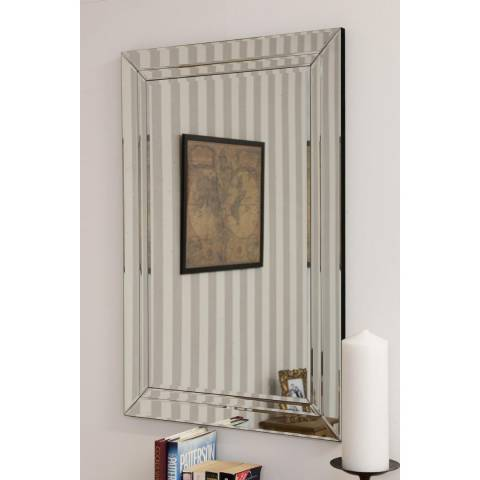 Milton Manor Cranbury All Glass Wall Mirror 90 x 60cm