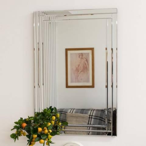Milton Manor Luxford All Glass Bevelled Mirror 90 x 60cm