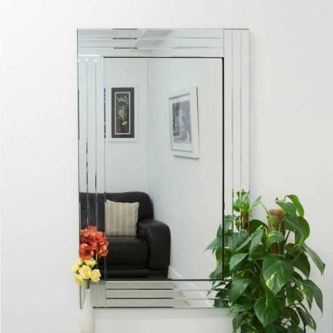 Milton Manor Oakley All Glass Triple Edge Bevelled Large Dress Mirror 120 x 80cm