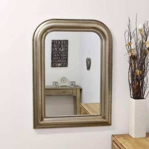 Milton Manor Silver Keaton Overmantle Mirror 80x60cm