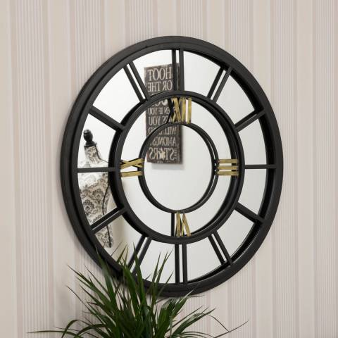 Milton Manor Somerley Clock Face Indoor/Outdoor Wall Mirror 78cm