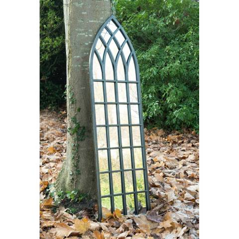 Milton Manor Somerley Rustic Arch Garden Wall Mirror 140x40cm