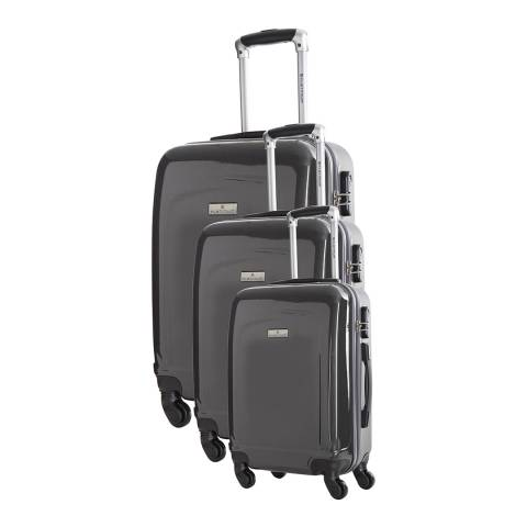 Platinium Set Of Three Grey Clarks Suitcases 50/60/70cm