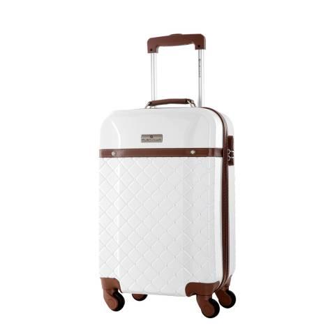 Platinium White Trendy Suitcase 60cm