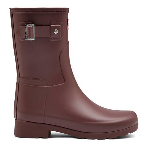 Hunter Women's Brown Refined Short Boot