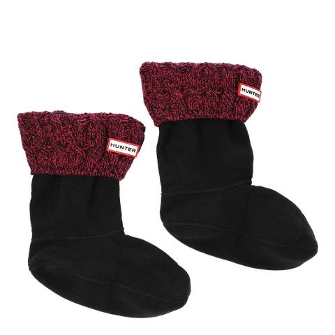Hunter Black/Red Original Stretch Cable Boot Sock