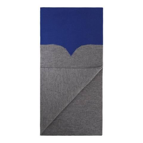 Hunter Grey/Blue Original Moustache Scarf