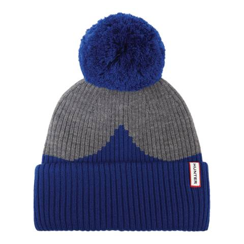 Hunter Grey/Blue Original Moustache Bobble Hat