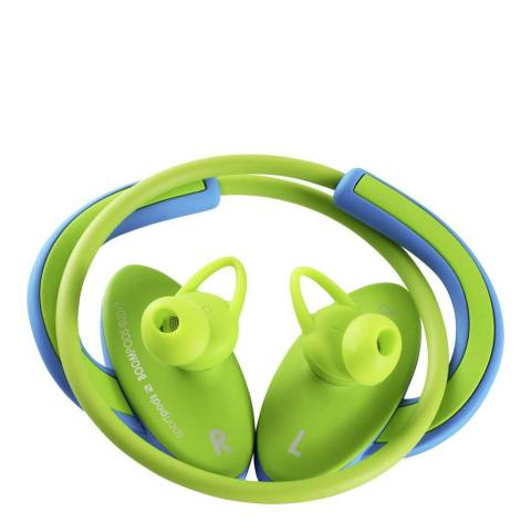 Boompods Blue/Green Sportpods 2 Wireless Earphones