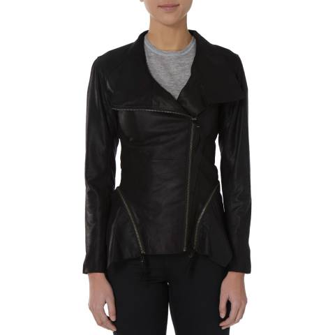 Bolongaro Trevor Black Wild Zip Off Leather Jacket