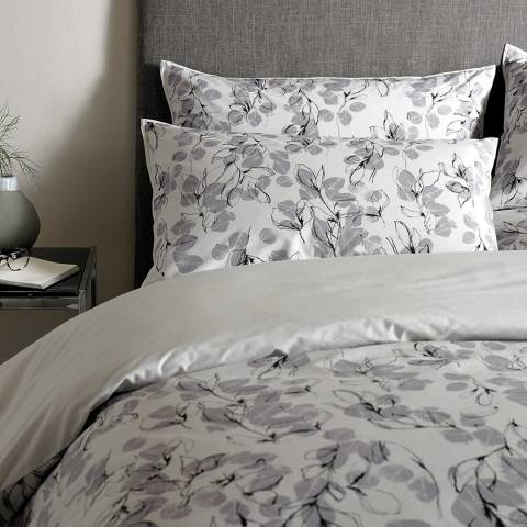 Jigsaw Linear Leaf Housewife Pillowcase, Silver