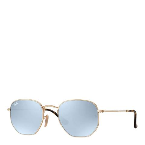 Ray-Ban Men's Gold Hexagonal Sunglasses 51mm