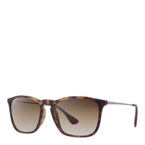 Ray-Ban Unisex Tortoise Chris Sunglasses 54mm