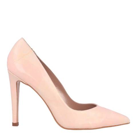 Roberto Botella Pink Marbled Leather Pointed Toe Heel