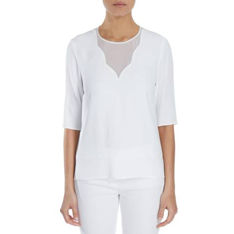 Boss by Hugo Boss White Imoona Crepe Blouse