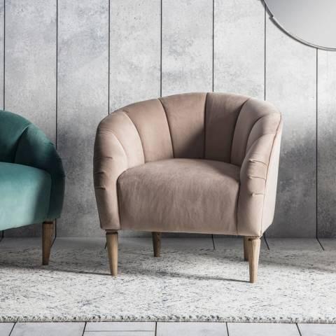Gallery Tulip Chair, Wheat Velvet