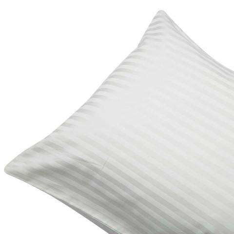 Belledorm 540TC Satin Stripe Pair of Housewife Pillowcases, Ivory