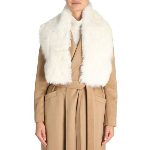 Laycuna London Cream Toscana Sheepskin Scarf