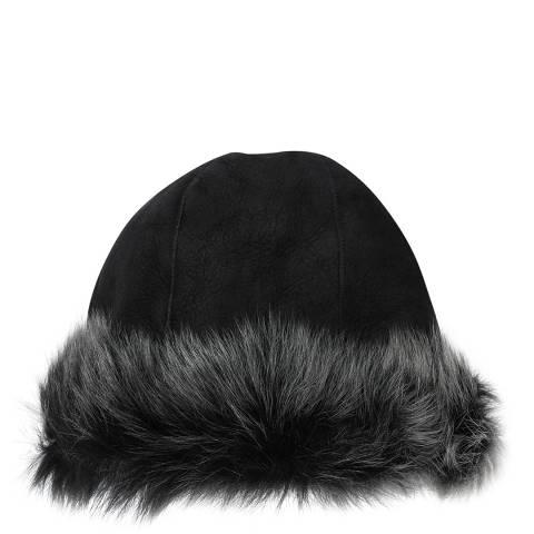 Laycuna London Black/Brisa Sheepskin Hat