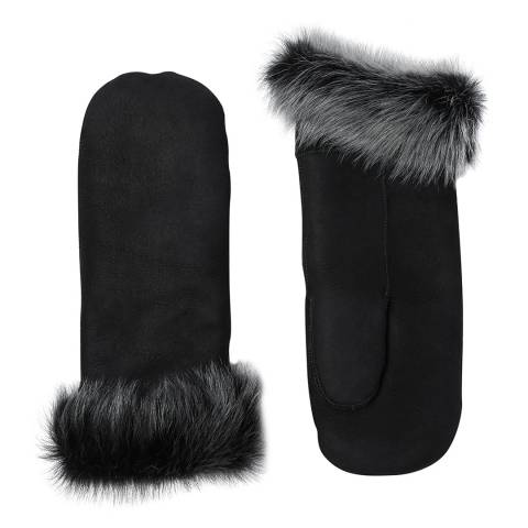 Laycuna London Black/Brisa Sheepskin Mitten