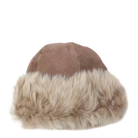 Laycuna London Taupe Toscana Sheepskin Hat