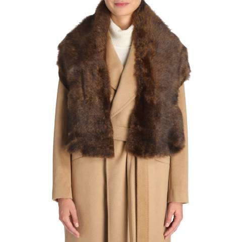 Laycuna London Racoon Sheepskin Scarf
