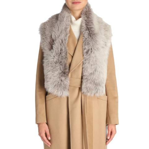 Laycuna London Taupe Brisa Sheepskin Scarf
