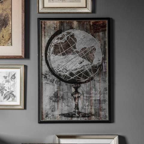 Gallery Aged Globe Framed Art 64x94cm