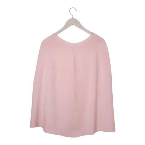 Laycuna London Pink Cashmere Blend Poncho