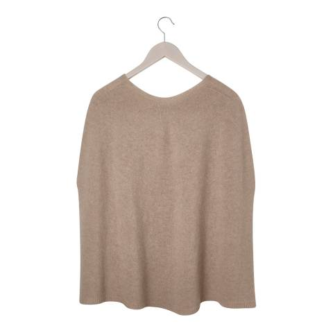 Laycuna London Taupe Cashmere Blend Poncho