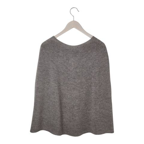 Laycuna London Grey Cashmere Blend Poncho