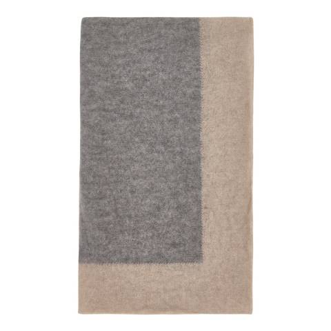 Laycuna London Grey/Taupe Cashmere Blend Stole
