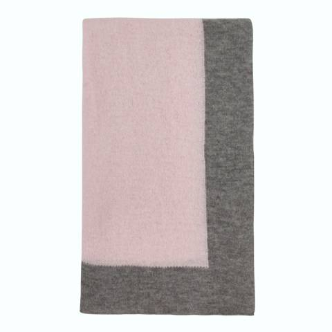Laycuna London Pink/Grey Cashmere Blend Stole
