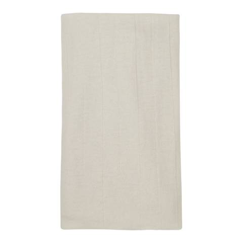Laycuna London White Cashmere Blend Scarf